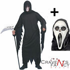 Smiffys Screamer Ghost Mens Halloween Fancy Dress Costume ADD Mask Scream Film