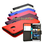6 COLOUR PU LEATHER WALLET FLIP CASE COVER FOR HTC ONE MINI M4 MOBILE PHONE