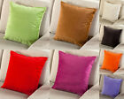 Fashion Flocking Solid Back Living Room Sofa Cushion Cover Throw Pillow Case