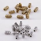 50Pcs Silver/Gold Tibetan Silver Bar-Type Craft Spacer Bead Charm Findings