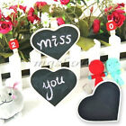 Mini Chalkboard Blackboard Tag Buffett With Pegs Clip Party Wedding Heart Wooden