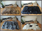 GENUINE ICELANDIC SHEEPSKIN RUG - SQUARE RECTANGULAR - WHITE BLACK BROWN SILVER