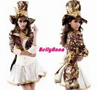 Women Sexy Mad Hatter Alice In Wonderland Halloween Cosplay Costume Fancy Dress