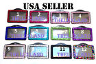 Rhinestone Bling Bling Crystal Horizontal ID Badge Holder - Lanyard NOT included