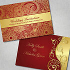 Personalised Wedding Invitations Day Evening *Free Draft* Asia Inspired Floral