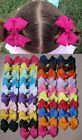 "2 x New Style Grosgrain Ribbon Hair Clips Pins Boutique bow Hair Clip 2"" x 2"""
