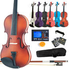 Brand New Mendini 4 4 3 4 1 2 1 4 1 8 Violin +Tuner+Case+Bow+Rosin+Strings