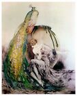 Beautiful Peacock Lady In Lace Fabric Quilt Block Multi Szs FrEE SHIP WoRld WiDE