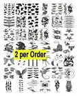 2 Temporary Fake Tattoos Bold Body Art Transfer Waterpoof Fancy Dress- Choice