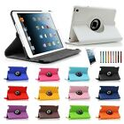 360 Rotating Leather Case Smart Cover W/Stand Sleep Wake For Apple iPad Mini