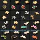 10pc 3D Alloy Rhinestone Nail Art Beard Halloween Xmas Stickers DIY Decorations