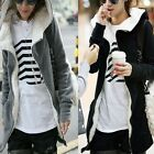 Fashion Women's Winter Hoodie Warm Fleece Zip Up Sweatshirt Jacket Coat