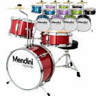 "Mendini 13"" Junior Drum Set in Black, Blue, Green, Red or Purple +Cymbal & Stick"