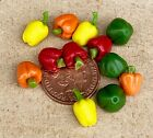 1:12 Scale Bell Peppers Dolls House Miniature Garden Vegetable Food Accessory
