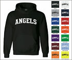 Angels College Letter Team Name Jersey Hooded Sweatshirt