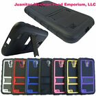 Dual Layer Heavy Duty Hybrid Car Phone Cover Case for Samsung GALAXY S4 i9500