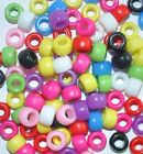 acrylic pony beads, opaque, various colours, 9 x 6 mm, 100- 3000 pcs