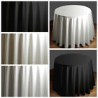 "108"" Round High Qualitly Polyester Tablecloth Wedding Table Linens- 3 Colors"