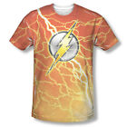 JLA The Flash Lighting Logo DC Comics Sublimation ALL OVER Vintage T-shirt top