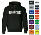 State of Massachusetts College Letter Adult Jersey Hooded Sweatshirt