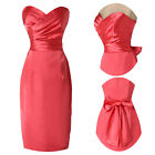 New Retro Style Pencil Slim Strapless Cocktail Evening Prom Party Ladies Dress