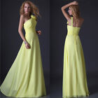 New Sexy One Shoulder Long maxi Pageant bridesmaid Gown Prom Ball Evening Dress
