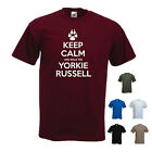 'Keep Calm and Walk the Yorkie Russell'. Jack/ Yorkshire cross Mens funny Tshirt