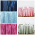 "117"" ROUND Crinkle Taffeta TABLECLOTH - Wedding Party DiscountedTable Linens"