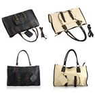Retro PU Leather Handbag Shoulder Messenger Bag Large Capacity With Small Bag