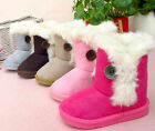 NEW Toddler Kids Thick Cotton Warm Plush Short Shoes Winter Fur Snow Boots GK05