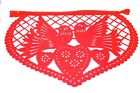 Mexican Papel Picado Banner Bunting Plastic 5m Love Hearts Event Red and Pink