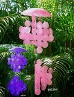 "BEACH/TROPICAL DECOR - Dyed Pink or Purple Colored 30"" Capiz Seashell WindChime"