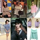 Sexy Off Shoulder Sweater Womens Horizontal Neck Loose Knitwear Pullovers Coat