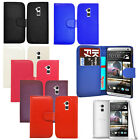Pu Leather Smart Wallet Book Flip Phone Case Cover For HTC One Max