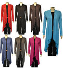 Ladies Long Sleeve Open Waterfall Cardigan Womens Size 8 10 12