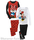 MINNIE MOUSE 4 6 8 10 Girls PAJAMAS PJS Sleepwear Shirt Pants Long Sleeve