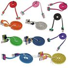 HOT STRONG BRAIDED USB LEAD SYNC DATA CABLE CHARGER Fabric For Apple iPhone 4 4S