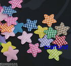 60 pcs Padded Felt STAR Gingham or Satin Dots Appliques 25mm a073 A074 U Pick
