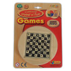 NEW Wooden Boarg Games - Kids Family Party Games Travel Snakes & Ladders Ludo