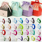 Xmas Gift Candy Wedding Festival Party Thin Ribbon Grosgrain Satin Belt 1CM*22M