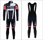 New Men's Outdoor Cycling Long Sleeve Jersey + BIB Tights With 6D Padded M-XXL