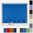 MADE TO MEASURE - SQUARE EYELET ROLLER BLINDS - CUSTOM MADE - MANY COLOURS