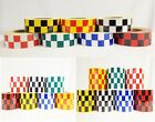 New Reflective Chequer Chequered Tape Each Chequer 25mmx25mm Free Fast Postage