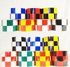 New Reflective Chequer Chequered Tape Each chequer 50mmx50mm Free Fast Postage