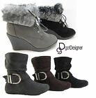 NEW Women's Fashion Booties Shoes Ankle Boots Flat Slouch Heels Wedges Casual