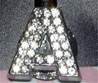 Initial A-Z Silver Crystal Charm Purse Key Ring Purse/Backpack Key Ring