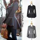 Women Slim Lapel Hi Lo Hem Tuxedo Back Asymmetric Fit-and-flare Blazer Outwear