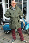 Military Fishtail Parka Classic Vintage Coat Mod Scooter Retro Army New Mens