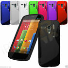 S Line Wave Gel Case Cover For Motorola Moto G + Screen Protector Free Pen