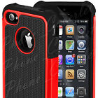 iPhone 4 Case 4S Hard Silicon Shock Proof Defender Cover Dual Layer for Apple